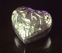 Silver Victorian Friendship Heart