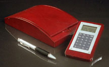 Rosewood Pen and Calculator Set