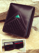 Black Calf Leather Wallet