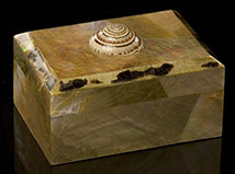 Taupe Oyster Shell Box with Sundial