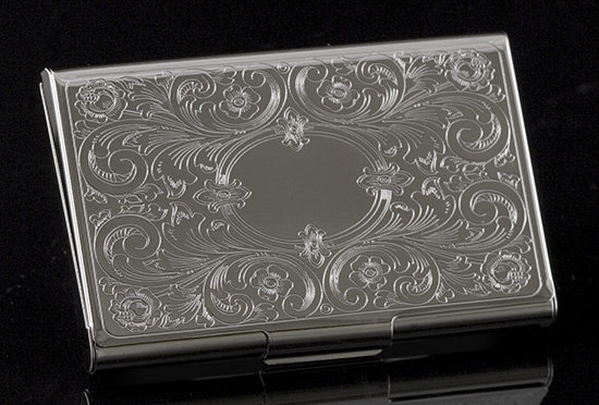 Florentine Clasp Business Card Case