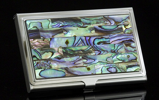 Abalone Business Card Holder