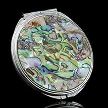 Abalone Mirror Compact