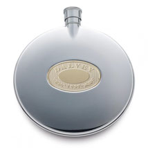 Dalvey Classic Pocket Flask with Oakleaf Design