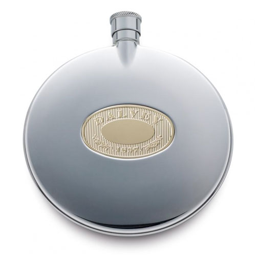 Dalvey Classic Flask with Oakleaf Design
