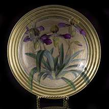 Scott Potter Gilt Orchid Decoupage Decorative Bowl