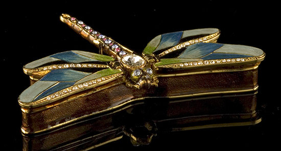 Dragonfly Jeweled Box & Necklace