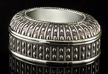 Oval Beaded Silver Box