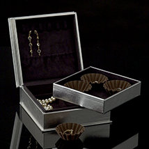 Platinum Chocolate Jewelry Box - Open
