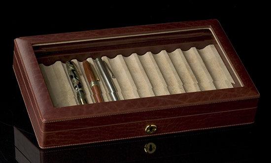 Italian Leather Pen Box