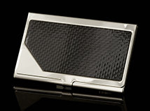 Black Carbon Carrington Business Card Case