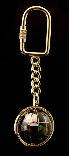 Black Opalite Globe Keyring