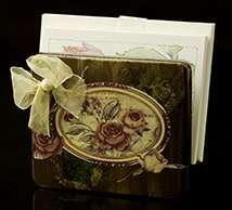 Victorian Antiqued Gold Letter/Napkin Holder