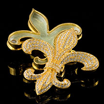 Jeweled Fleur-de-Lis Box - Open
