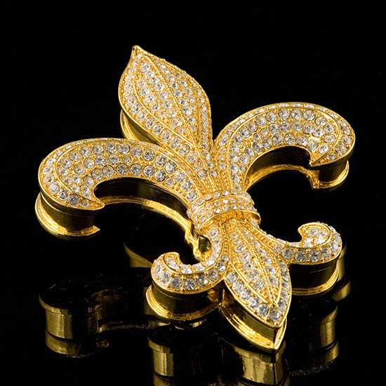Jeweled Fleur de Lis Box