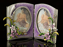 Jeweled Reflections Double Picture Frame