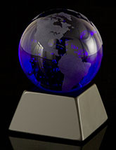 Midnight Blue Globe With BAse