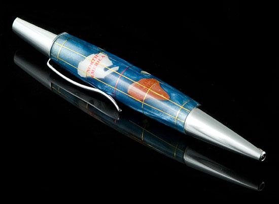 Aqua Blue World Pen
