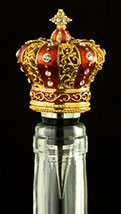 King's Crown Jeweled Bottle Topper