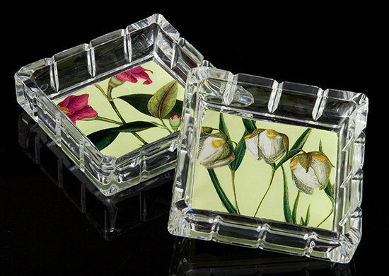 Secret Garden Decorative Glass Box/Coasters