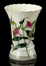 Secret Garden Scalloped Vase