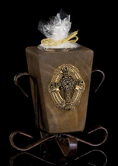Jeweled Cross Renaissance Candle Holder