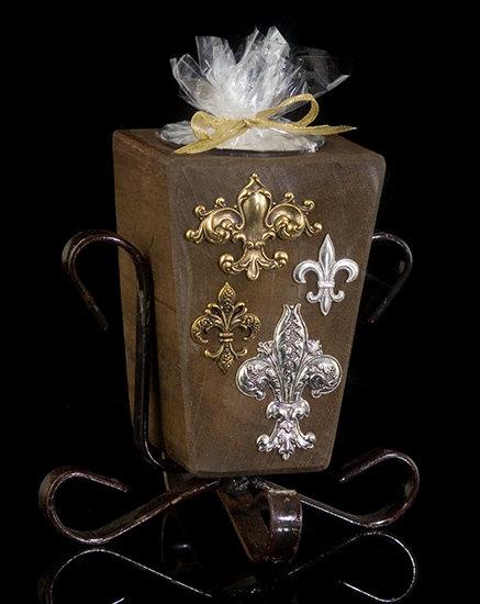 Fleur de Lis Renaissance Candle Holder
