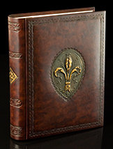 Italian Leather Fleur-de-Lis Album