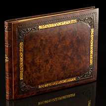 Italian Old World Leather Guest Book