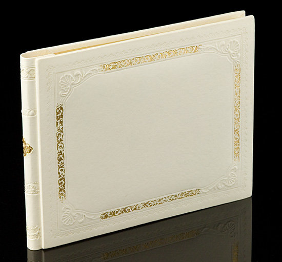 Italian Leather Wedding Guest Book