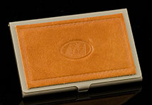 Caramel Brown Excelsior Card Case