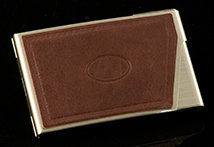 Brown Courier Card Case