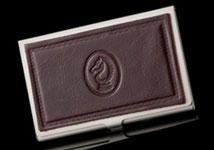 Dark Brown Excelsior Card Case - Horsehead
