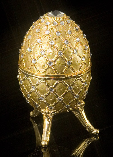 Jeweled Gold Musical Egg
