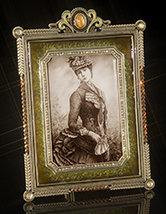 Empress Jeweled Topaz Frame
