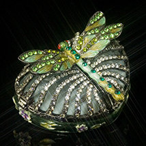 Jeweled Dragonfly Heart Box