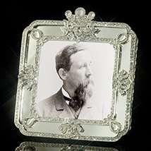 Deco Mirror Jeweled Frame
