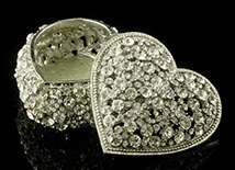 Infinity Crystal Heart Box - Open