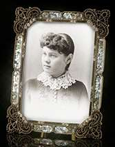 Borghese Mother of Pearl Jeweled Frame