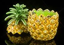 Jeweled Pineapple Box - Open