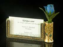 Amber Glow Business Card and Pen/Flower Holder