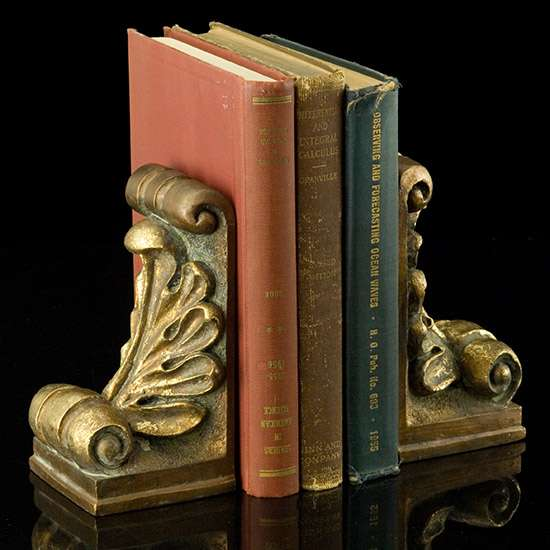 Scrolling Acanthus Bookends