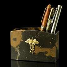 Caduceus Marble Pen Cup