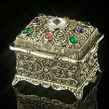 Crystal Kaleidoscope Oblong Music Box