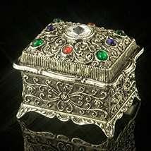 Crystal Kaleidoscope Oblong Music Box