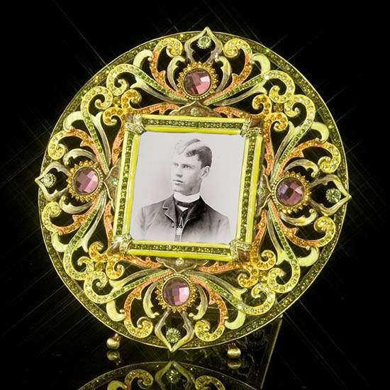 Empress Round Jeweled Frame