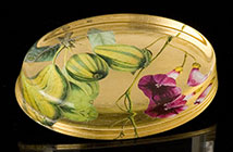 Scott Potter Oval Morning Glory Paperweight