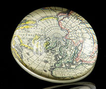 Scott Potter Antique Map Domed Paperweight