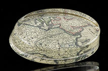 Scott Potter Antique Map Oval Paperweight