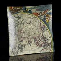 Scott Potter Antique Map Square Tray